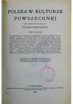 Polska w kulturze powszechnej  część I 1918 r