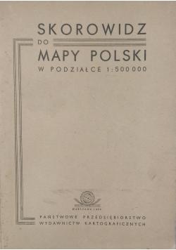 Skorowidz do mapy Polski w podziałce 1 : 500 000