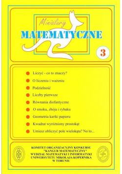 Miniatury matematyczne cz.3