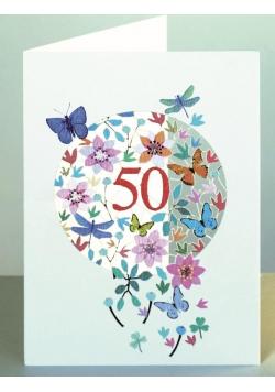 Karnet F50 wycinany + koperta Urodziny 50