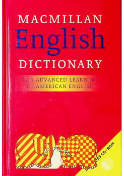 Macmillan English Dictionary for Advanced Learners of American English plus CD