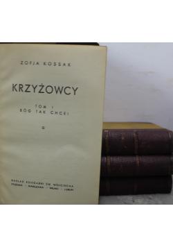 Krzyżowcy 4 tomy 1948 r.