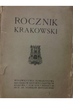 Rocznik Krakowski tom XIX 1923 r.