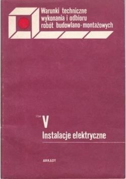 Instalacje elektryczne tom V