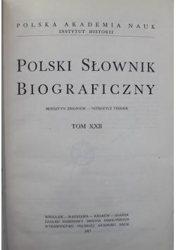 Polski słownik biograficzny Tom XXII zeszyt od 92 do 94