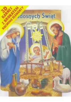 Karnet składany 3D Boże Narodzenie - Stajenka