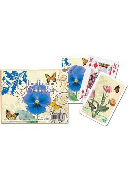 Karty do gry Błękitny Rozkwit 2 talie