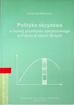 Polityka akcyzowa a rozwój przemysłu spirytusowego w Polsce w latach 90 tych