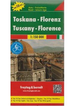 Mapa samochodowa - Toskania, Florencja 1:150 000