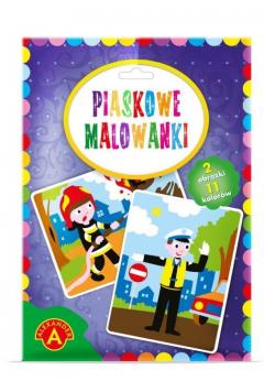 Piaskowe malowanki - Policjant i Strażak ALEX