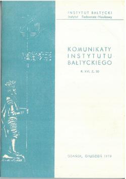 Komunikaty instytutu bałtyckiego