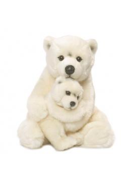 Niedźwiedź polarny z dzieckiem 28 cm WWF