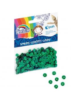 Confetti cekiny kółko zielone FIORELLO
