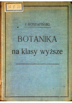 Botanika na klasy wyższe 1906r