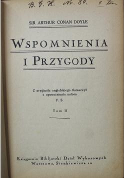 Wspomnienia i przygody Tom II 1925 r.