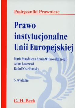Prawo Instytucjonalne Unii Europejskiej