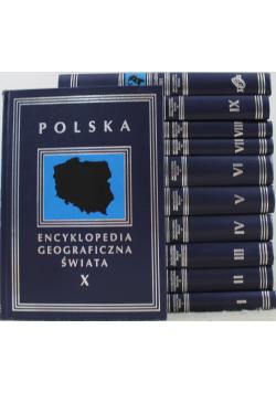 Encyklopedia geograficzna świata 10 tomów plus suplement