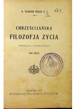Chrześcijańska Filozofia Życia 1924 r.