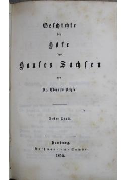 Geschichte der Höfe des Hauses Sachsen 2 tomy 1854 r.