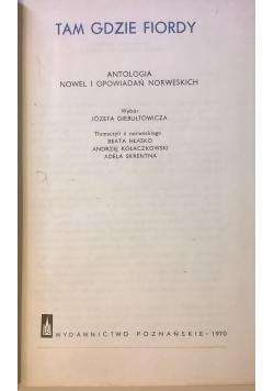 Tam gdzie fiordy  Antologia nowel i opowiadań norweskich