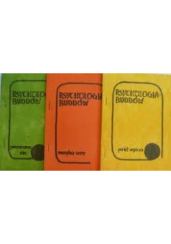 Psychologia Buddów  Zestaw 3 książek