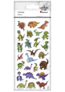 Naklejki wypukłe miękkie dinozaury 25szt