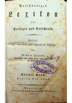 Vollstandiges Lerifon fur Prediger und Katecheten 3 band 1831 r.