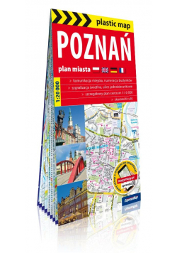 Plastic map Poznań 1:20 000 plan miasta