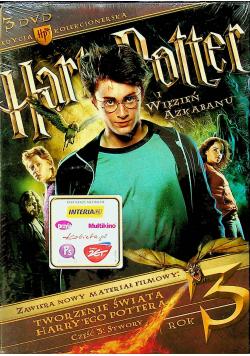 Harry Potter i Więzień Azkabanu edycja kolekcjonerska 3 płytowa płyta DVD NOWA