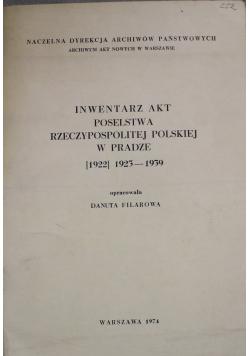 Inwentarz akt poselstwa Rzeczypospolitej Polskiej w Pradze