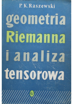 Geometria Riemanna i analiza tensorowa