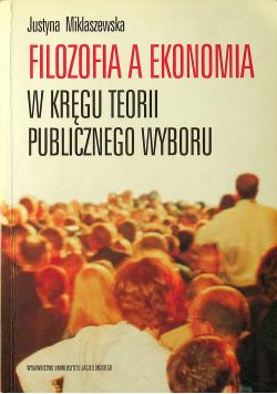 Filozofia a ekonomia w kręgu teorii publicznego wyboru