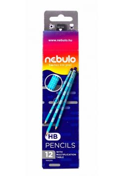 Ołówek HB z tabliczką mnożenia (12szt) NEBULO