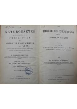 Die Naturgesetze / Die Theorie der Erkenntniss