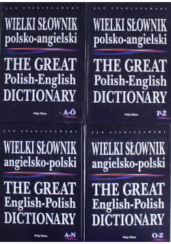 Wielki słownik Angielsko - Polski 4 Tomy