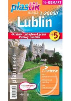 Plan miasta Lublin +5 1:20 000 plastik