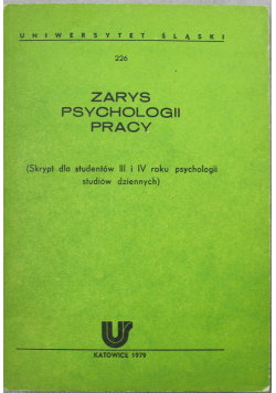 Zarys psychologii pracy
