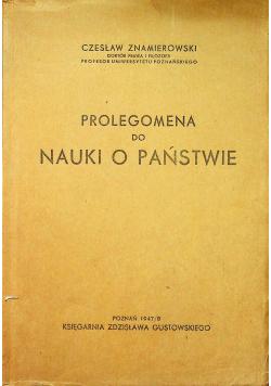 Prolegomena do nauki o państwie Około 1948 r.
