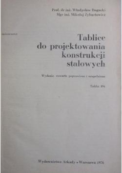 Tablice do projektowania konstrukcji stalowych