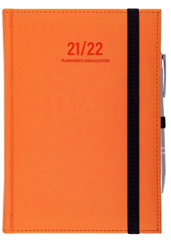 Kalendarz nauczyciela 2021/2022 B6D Nebraska z gumką pomarańcz