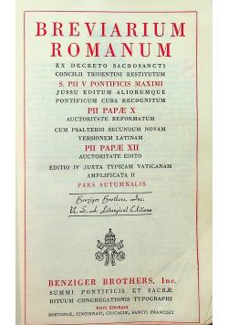 Breviarium Romanum ex decreto sacrosancti concilii tridentini restitutum 1946r