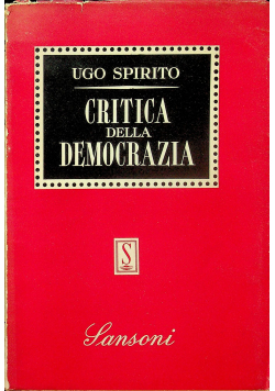 Critica Della Democrazia