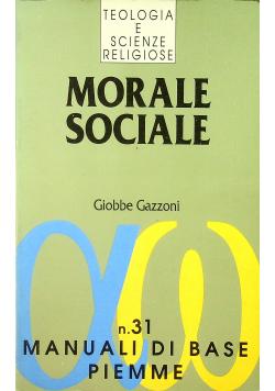 Morale sociale