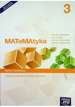 Matematyka Podręcznik do szkół ponadgimnazjalnych Zakres rozszerzony