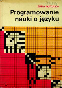 Programowanie nauki o języku