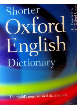 Shorter Oxford English Dictionary 2 tomy Nowa