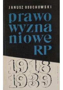 Prawo wyznaniowe RP 1918 1939