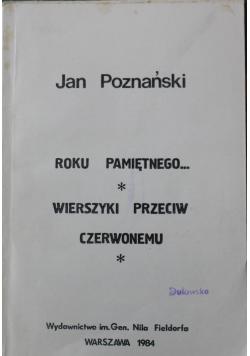 Roku pamiętnego wierszyki przeciw czerwonemu