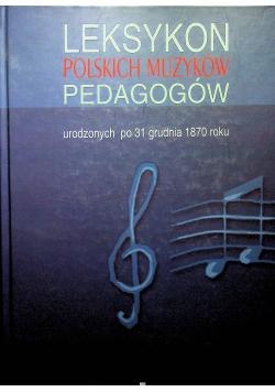 Leksykon polskich muzyków pedagogów