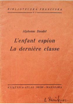 Lenfant espion La derniere classe 1934 r.